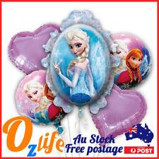 5pcs Frozen Foil Balloons Set Helium Air Inflatable Birthday Party Decoration