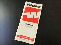 Western Airlines Timetable June 1, 1985
