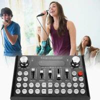 Webcast Live Sound Card Voice Changer Audio Mixer USB Digital J6Y5 Port W0P7