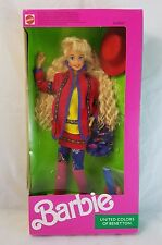 Barbie Doll United Colors Of Benetton 1990 Never Removed From Box Mattel #9404