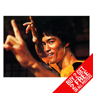 BRUCE LEE POSTER ENTER THE DRAGON PRINT A4 A3 SIZE - BUY 2 GET ANY 2 FREE