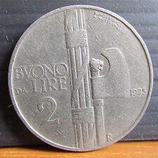 1925 segno di zecca R ITALIA 2 LIRE basso CONIO MONETA