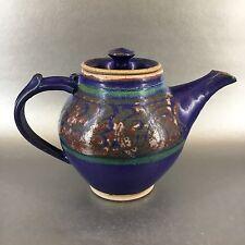 Kingsmill Studio Pottery Teapot BC Canada Blue Handmade Vintage Tea