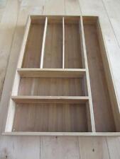 Wooden Flatware Silverware Drawer Organizer Seville Classics 6 Slots 18 X 11 3/4
