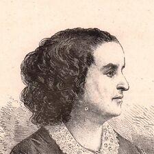 Portrait XIXe Adèle Foucher Femme de Victor Hugo