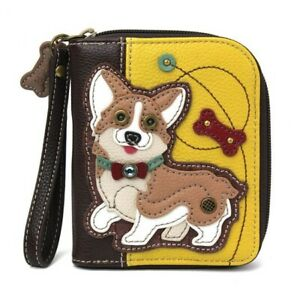 Chala Zip Around Wallet, Corgi, Mustard (839CG0)