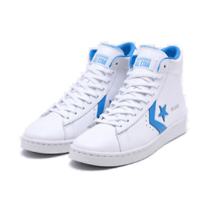 CONVERSE PRO LEATHER MID TRAINER BASKETBALL MEN SHOES WHITE/BLUE SIZE 9.5 NEW