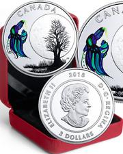 2018 Big Spirit Moon Pure Silver Proof Coloured $3 Coin Canada 13-Teachings