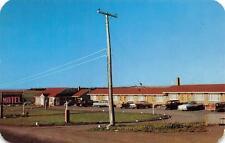 RED BRICK MOTEL Caribou, Maine US Route 1 Roadside Vintage Postcard ca 1950s