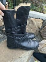 Palladium Boots Size 39 Black Leather Boho Retro Dress ECU