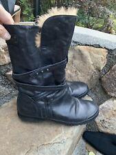 Palladium Boots Size 39 Black Leather Boho Retro Dress ECU