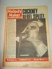 MELODY MAKER 1974 JULY 27 COCKNEY REBEL RICK WAKEMAN SWEET INTRUDERS