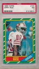 JERRY RICE 1986 TOPPS #161 RC ROOKIE CARD SAN FRANCISCO 49ERS PSA 7 NM