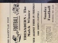 M3-8a ephemera 1941 dagenham article ww2 ford sports v clapton football report