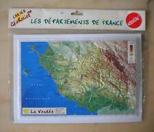 Carte en Relief, La Vendée, 85, Géorelief, Départements