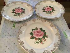 American Rose 22 carat gold Paden city pottery company plate