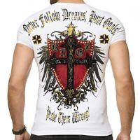 Kingz REDLINE Herren T-shirt Stretch Weiss alle Gr. Neu