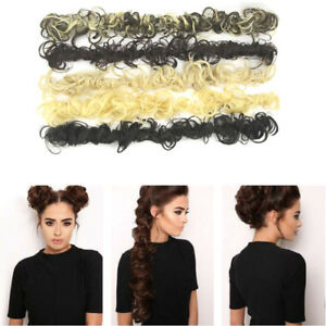 Synthetic Hair Scrunchie Wrap For Wave Curly Hair Bun Chignon Ponytail Party