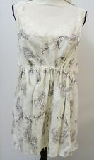 Women's Plus Nightgown by Lane Bryant Size 28 Beige Print Sleeveless Pre-owned