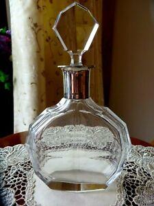 Bleikristallkaraffe mit 830 Silbermontur