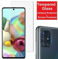 Tempered Glass Screen Protector + Camera Lens Film For Samsung Galaxy A51 A71 5G