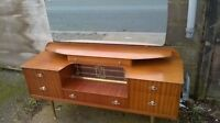 NICE VINTAGE DRESSING TABLE SIX DRAWERS GOOD MIRROR PENRITH CUMBRIA BEDROOM BED