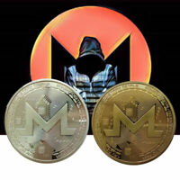 Gift Collection Souvenir 38mm Round Coin Commemorative XMR Silver Gold Monero
