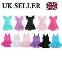 UK Girls Classic Ballet Dance Dress Gymnastics Leotard Tutu Skirt Dancewear