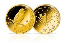 Deutschland 20 Euro Münze Gold 2016 Heimische Vögel Nachtigall Goldmünze