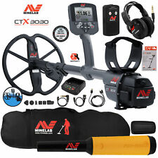 Minelab Ctx 3030 Ultimate Waterproof Metal Detector with Pro Find 15, Carry Bag