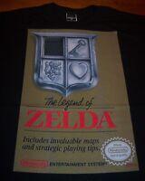 VINTAGE STYLE THE LEGEND OF ZELDA GOLD BOX NES Nintendo T-Shirt LARGE NEW