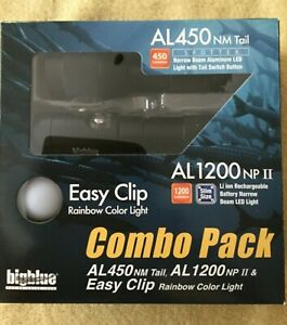 bigblue Dive Light Combo Pack AL1200NP, AL450NM Tail & Rainbow EZ Clip