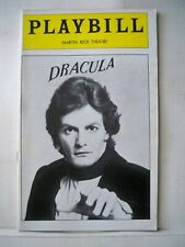 DRACULA Playbill JEAN LeCLERC / JEROME DEMPSEY / LAUREN THOMPSON NYC 1979