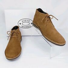 4a6a21d3f8a New ListingSteve Madden Hacksaw Chukka Suede Leather Boots Tan Brown Men s  Size 8.5