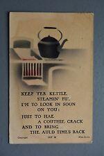 R&L Postcard: Valentine Aerograph, Coal Stove Cooker & Kettle, Allan Junior