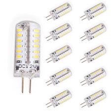 10er dc 12v 3w g4 lámparas LED lámpara lámpara lápiz zócalo pera blanco cálido