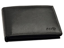 08ccd6c9cd9d8 Schwarze Geldbörse Echtleder Brieftasche Geldbeutel Portemonnaie mit RFID  Schutz