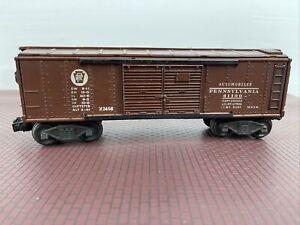 Lionel PA Automobile Box Car #X2458, 1947-48 Tuscan O Gauge, 3 Rail Track, Used