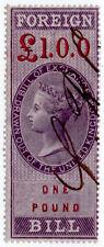 (I.B) QV Revenue : Foreign Bill £1 (1857)