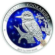 Australia 2019 1 OZ Kookaburra Glowing Galaxy