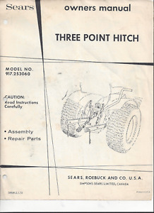 Sears Three Point Hitch Model 917.253060 Owners Manual COPY