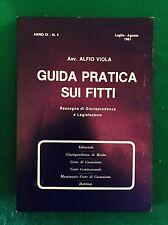 GUIDA PRATICA SUI FITTI anno IX n. 4 - Luglio / Agosto 1981 - Alfio Viola