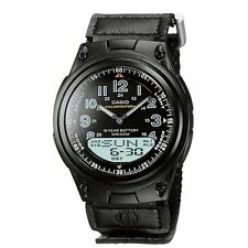 Casio Men's Analogue & Digital Calendar Back Light Stop Watch, Black