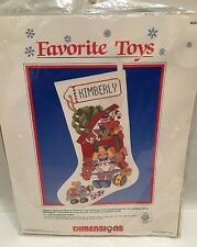 Favorite Toys Stocking Counted Cross Stitch Kit By Dimensions 8335 NOS Christmas