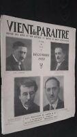 Rivista Arriva Di Paraitre Dicembre 1925 N°49 Edizioni G. Cres Parigi