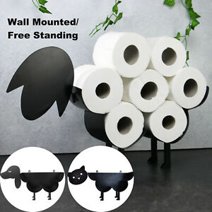 Sheep Toilet Roll Holder Fun Bathroom Paper Stand Dog Cat Shaped Tissue Storage