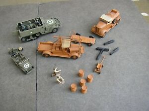 Hasegawa Starter Truck, Fuel Truck WWII 1:72 Built, As Is