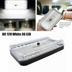 DC12V 36 LED Roof Reading Lamp White Interior Ceiling RV Trunk Light With Switch