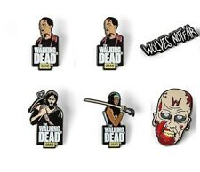 The Walking Dead 6 Enamel Pin Set MICHONNE DARYL DIXON 3 ZOMBIES WOLVES NOT FAR
