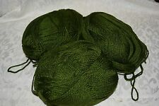 Southern Belle Mill End Yarn 10 oz Olive Green 3-4 Ply Acrylic Color per Photo S